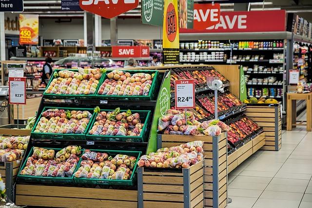 interiér supermarketu