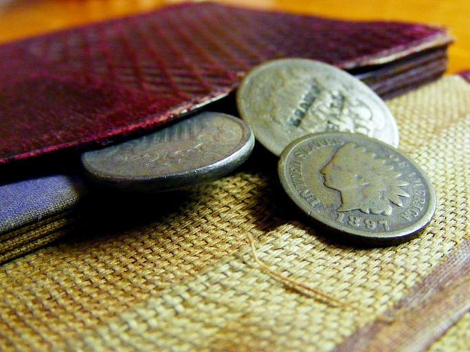 mince u peněženky