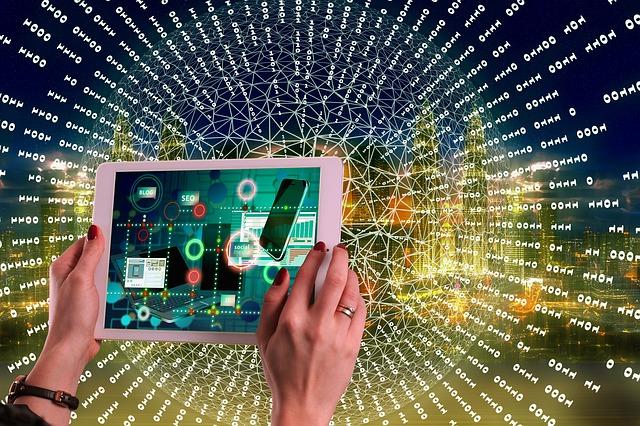 znázornění pohybu na internetu